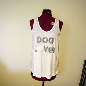 P.J. Salvage Tank Top Dog Lover Embroidere…